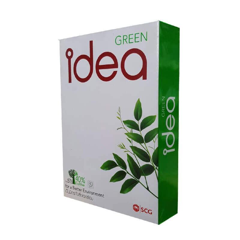 กระดาษถ่ายเอกสาร Idea Green A4 80 แกรม (5 รีม/กล่อง)