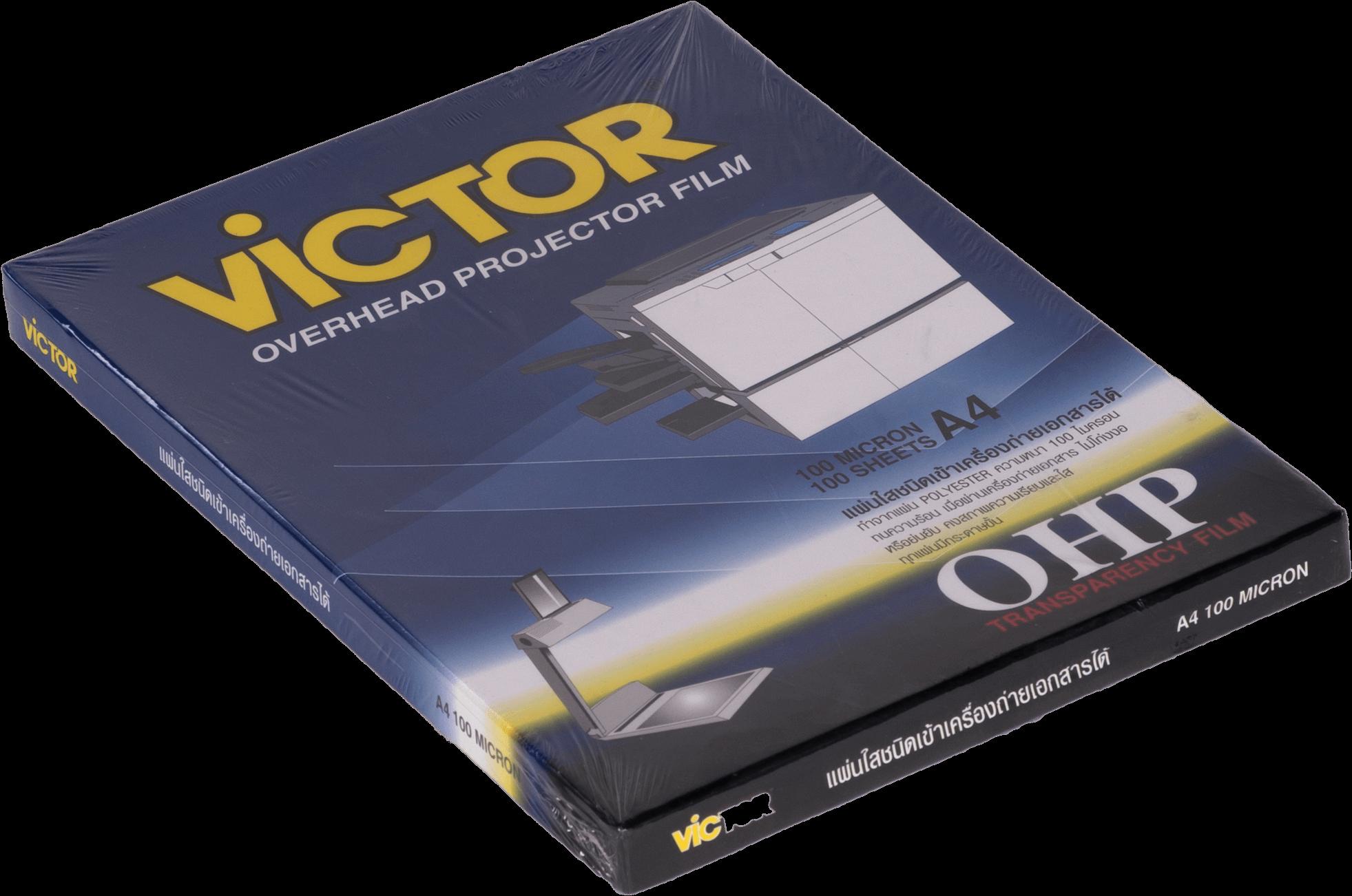 แผ่นใสสำหรับถ่ายเอกสาร VICTOR A4/100 ไมครอน (1x100)