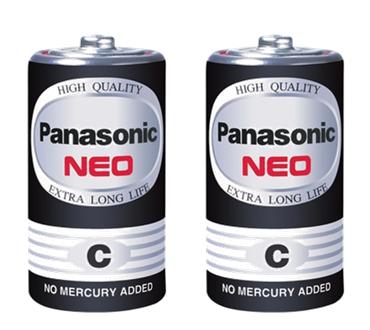 ถ่านไฟฉาย Panasonic NEO R14NT/2SL สีดำ C (1x2)