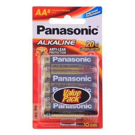 ถ่าน Panasonic ALKALINE LR6T/8B AA (1x8)