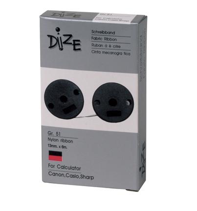 ผ้าหมึกบวกเลข Dize GR-51 ดำ/แดง
